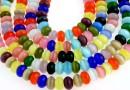 Margele ochi de pisica, rondele, multicolor, 8x5mm
