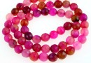 Dragon vein agate, multicolor pink, faceted round, 6mm