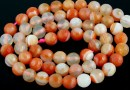 Brick lace agate, faceted round, 4mm