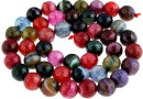 Dragon vein agate, multicolor, faceted round, 8mm