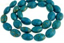 Natural turquoise stone, blue sea, oval, 14x10mm