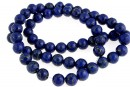 Natural turquoise stone, blue lapis, round, 7mm