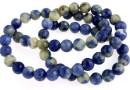 Blue spot sodalite, round, 6.5mm