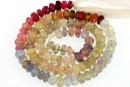 Multicolor sapphire, natural stone, faceted rondelle, 3.3mm