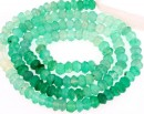Green onyx, natural stone, faceted rondelle, 3.5-4mm