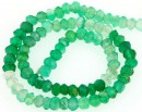 Green onyx, natural stone, faceted rondelle, 3.3-3.5mm