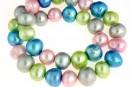 Perle de cultura - 10-11mm, multicolore