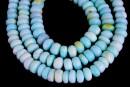 Peruvian blue opal, free form rondelle, 8mm