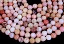 Pink opal, round, 6mm