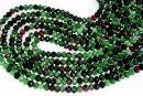 Ruby in zoisite, faceted rondelle, 4-4.5mm