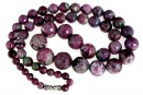 Ruby in zoisite, natural stone, faceted round, 5.5-14mm