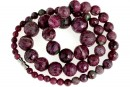 Ruby in zoisite, natural stone, faceted round, 5-14.5mm