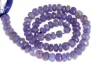 Tanzanite, natural stone, faceted rondelle , 4.8-6mm