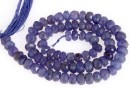 Tanzanite, natural stone, faceted rondelle , 4.7-5mm