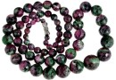 Ruby in zoisite, natural stone, faceted round, 5-12mm