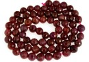 Ruby, natural stone, faceted round, 6.5-6.8mm