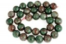 Natural green garnet, round, 12mm