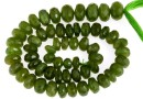 Natural olive garnet, faceted rondelle, 6.7-7.4mm