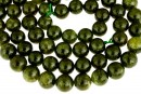 Natural olive grossular garnet, round, 11mm