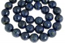 Natural lapis lazuli, microfaceted round, 10mm