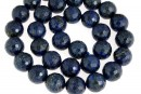 Natural lapis lazuli, microfaceted round, 12mm