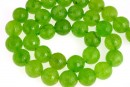 Lime green quartz, faceted round, 12mm