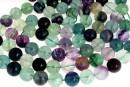 Rainbow fluorite, round, 14mm