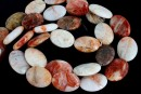 Natural Morocco agate, flat oval, 25x18mm