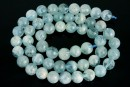 Aquamarine, round, 8mm