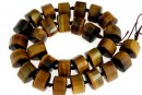 Brown tiger eye, faceted triangle, 15.5mm