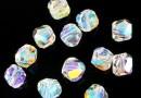 Swarovski, margele graphic cub, aurore boreale, 4mm - x2