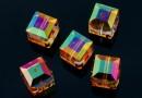 Swarovski, margele cub, astral pink, 8mm - x1