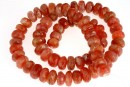 Natural sunstone, faceted rondelle, 10mm
