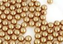 Perle Swarovski cu un orificiu, bright gold, 4mm - x4