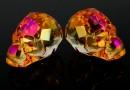 Swarovski, margele craniu, astral pink, 15x13mm - x1
