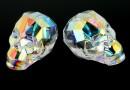 Swarovski, margele craniu, aurore boreale, 19x21mm - x1