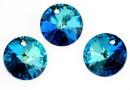 Swarovski, pandantiv rivoli, bermuda blue, 12mm - x2