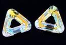 Swarovski, pandantiv triunghi, aurore boreale, 14mm - x1