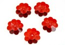 Swarovski, marguerite flower, red magma, 14mm - x2