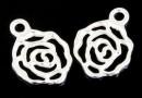 Pandantiv trandafir argint 925, 15x10.5mm  - x1