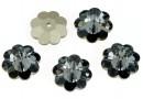 Swarovski, marguerite flower, silver night, 10mm - x4
