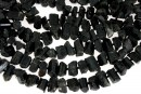 Black tourmaline rough stone, free form, 7-10mm