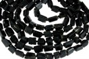 Black tourmaline rough stone, free form, 13-16mm