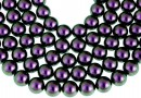 Perle Swarovski, iridescent purple, 4mm - x100