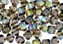 Swarovski, margele bicone, iridescent green, 4mm - x20