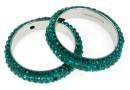 Swarovski, pave ring, emerald, 18.5mm - x1