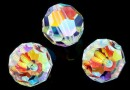 Swarovski, margele, rotund fatetat, crystal  2xAB, 10mm - x2