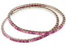 Bratara Swarovski 1088 mix happy pink, placata cu rodiu, 18cm - x1