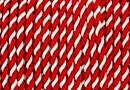 Snur martisor bicolor 4mm, alb- rosu - x3m