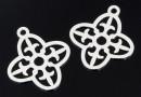 Pandantiv floare de crin, argint 925, 16mm - x1